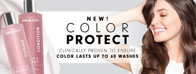 NEW! COLOR PROTECT CLINICALLY PROVEN TO ENSURE COLOR LASTS UP TO 60 WASHES