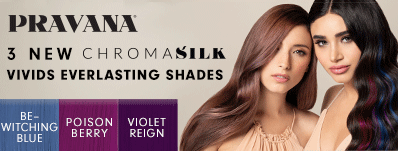 PRAVANA 3 NEW CHROMASILK VIVIDS EVERLASTING SHADES BE-WATCHING BLUE POISON BERRY VIOLET REIGN
