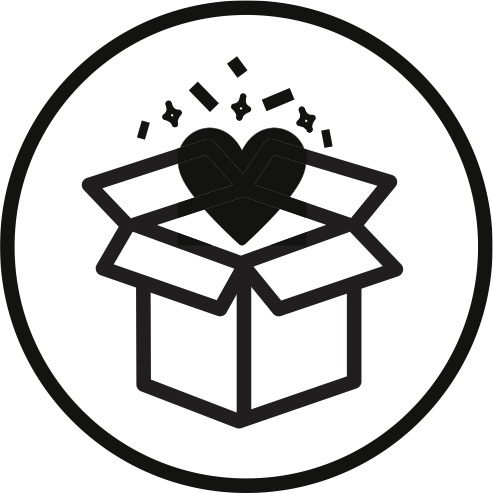 illustration of heart coming out of a box